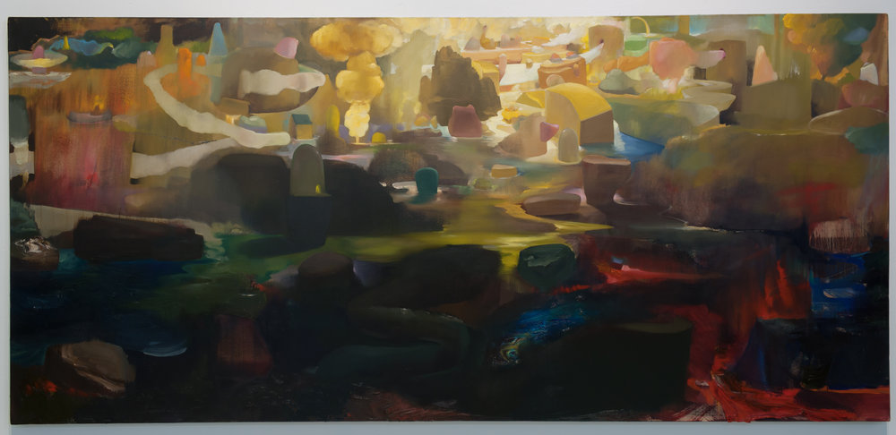 Sunset, Storm Passing | 2017 | oil on canvas | 44 x 95.5 in.