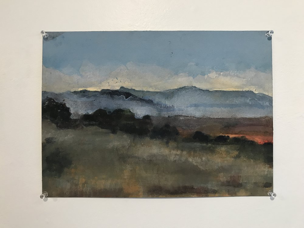 Mesa morning | 2010 | watercolor on arches block | 10 1⁄4 x 14 1⁄4 in.