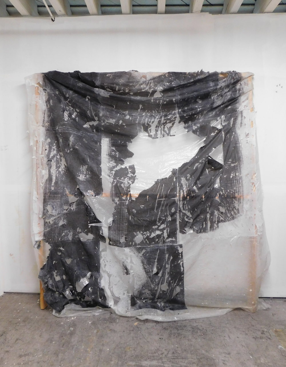 A Comedy of Augusts Panel 2 Phototranser on Tarp 10'x12' 2017.JPG
