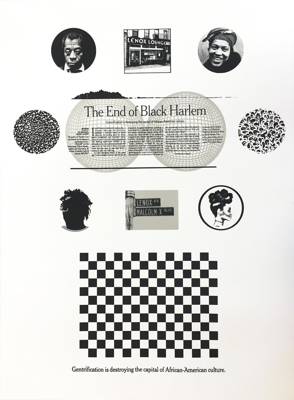 Karen J Revis | The End of Black Harlem | 2017 | Screenprint (Edition of 24) | 30 x 22 in.