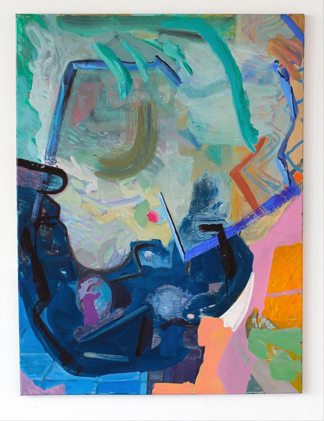 "Laurent's Ghost, 2016, oil on linen, 40"" x 30"" $2,600"