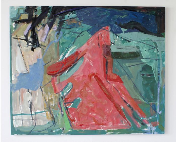 """Milkman, 2016, oil on canvas,65"""" x 78""""$6,400"""