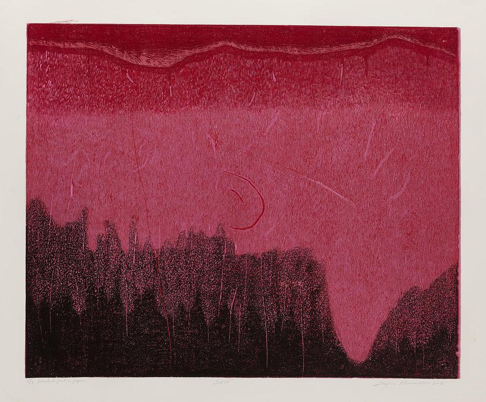 Skin 3, 2018, woodcut, image size: 19.5 x 24 in. [49.5 x 61 cms] $1,400 (unframed)