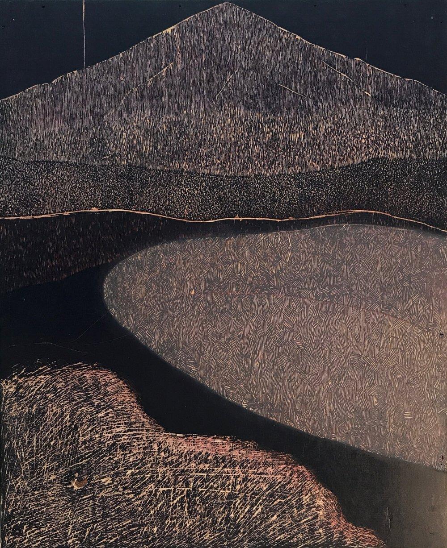 Skin 6, 2018, woodblock, 24 x 19.5 in. [61 x 49.5 cms] $2,500