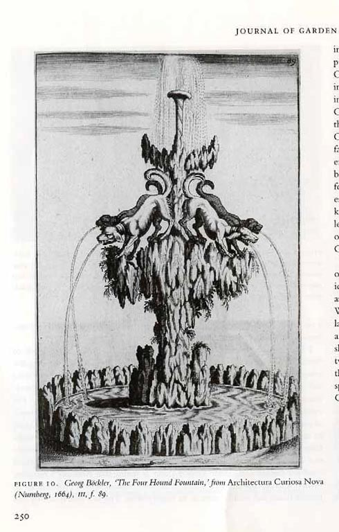 """Miscelanea Structura Curiosa, the cross-currencies of Vitruvius Hibernicus,"" Journal of Garden History"