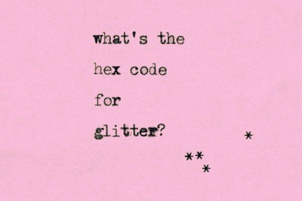 #glitter?!