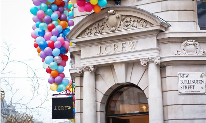 J Crew's brand new London store opened last week on Regent Street
