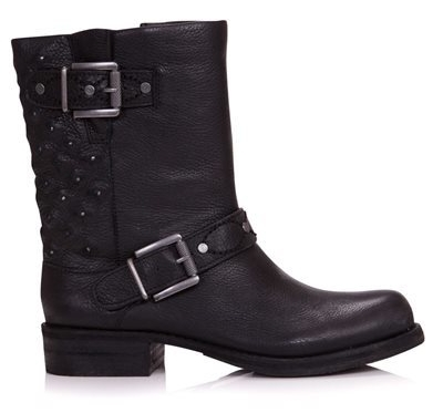 Sam Edelman Black Bevin Biker Boot available at  Anna