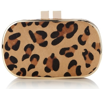 Oasis Leopard Print Clutch Bag