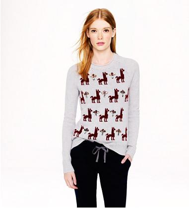 J Crew IIama sweater - http://www.jcrew.com/womens_category/sweaters/Pullover/PRDOVR~07877/07877.jsp