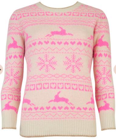 Ted Baker fairisle jumper - http://www.tedbaker.com/uk/Womens/Clothing/Knitwear/MAYSI-Fairisle-jumper-Nude-Pink/p/106857-57-NUDE-PINK