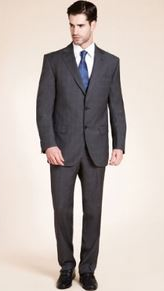 Marks and Spencer 3 button check suit
