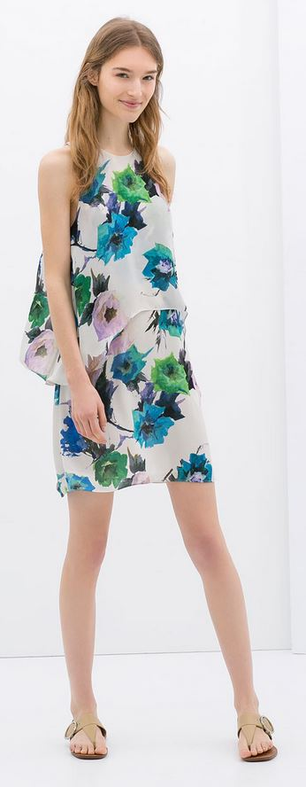 Zara printed dress £39.99