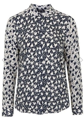 TOPSHOP LONG SLEEVED HEART SHIRT £30.00