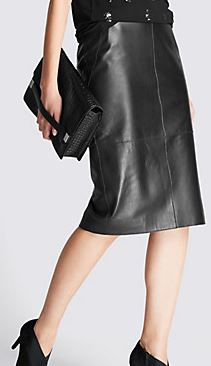 Marks and Spencer Autograph leather pencil skirt £149.99