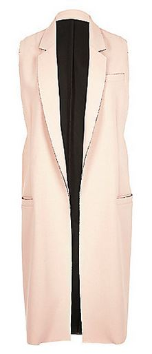 River Island pink raw hem sleeveless jacket £60.00
