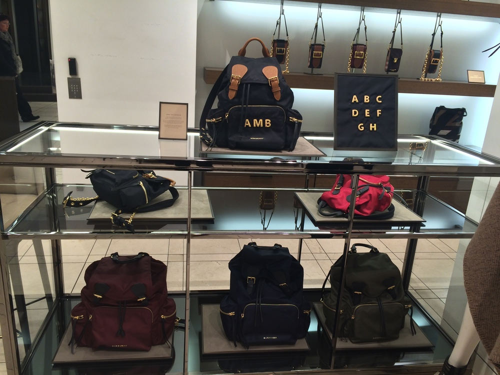 You can get it monogrammed with your name, initials or anything you want at the Burberry Store in London.