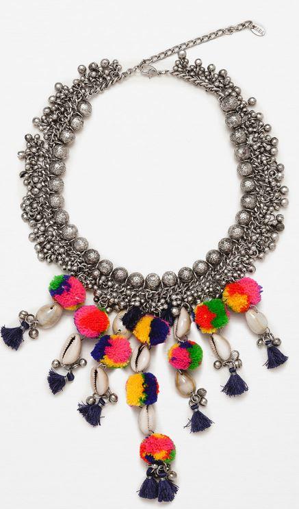 Pompom necklace, £17.99, Zara