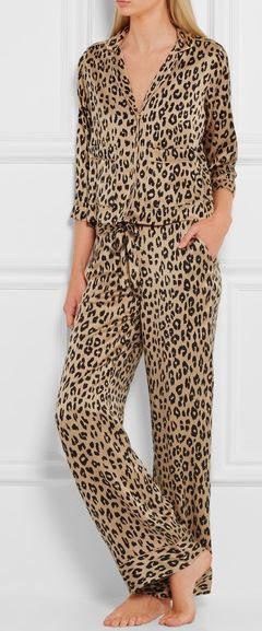 Leopard print silk pjs -  buy here