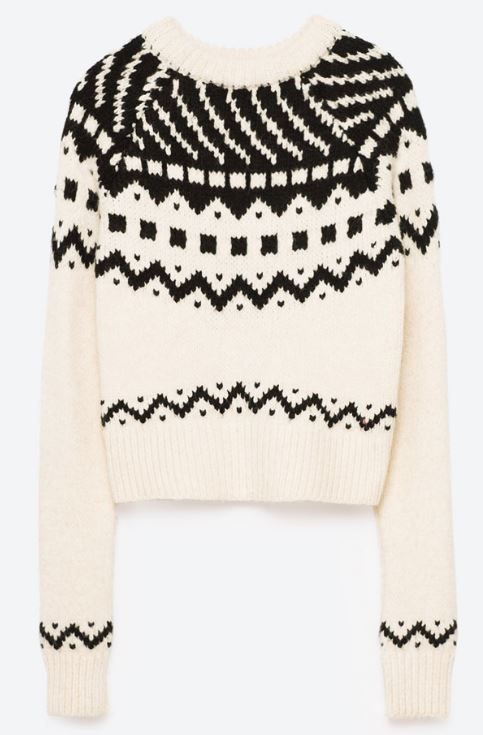 Zara jacquard jumper - £29.99