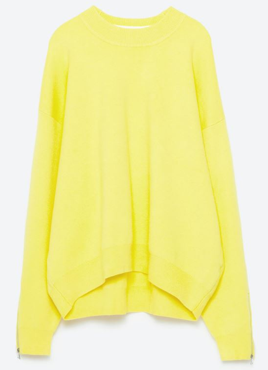 Zara yellow knitted sweater - £29.99