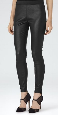 Reiss Carrie black leather leggings - £550