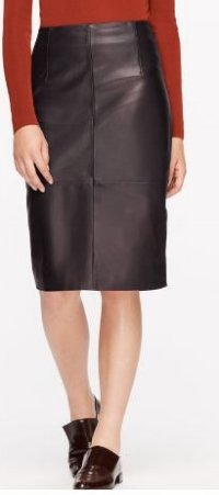 Jigsaw Leather high waisted pencil skirt - £198