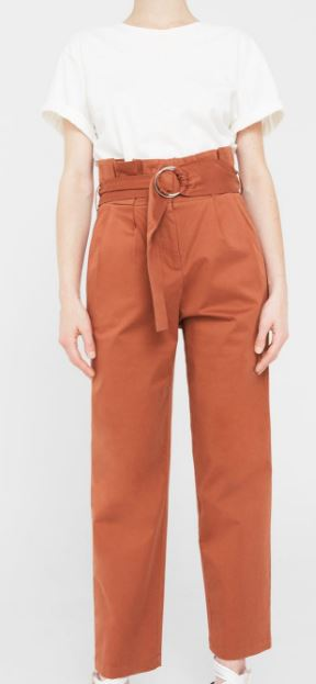 Mango cotton belted trousers £49.99