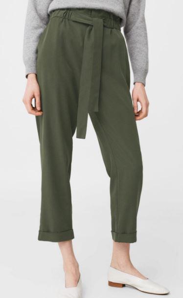 Mango elastic waist trousers £35.99