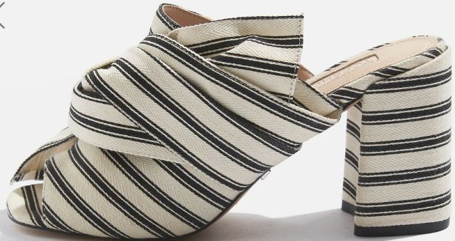 Topshop fabric knot mule - £52.00
