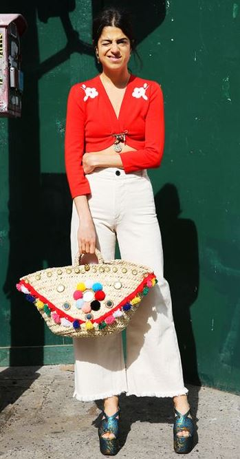 Colourful Pom Pom - Leandra Medine @manrepeller