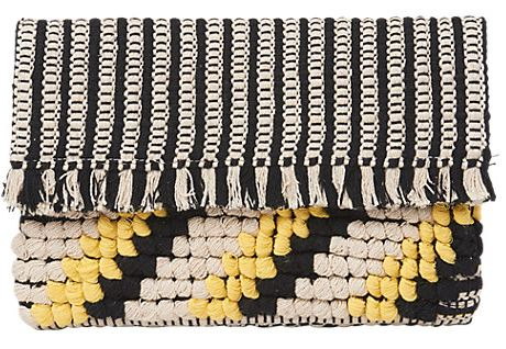 Woven fringe clutch bag, Whistles £55.00