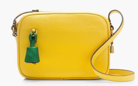 Signet bag in yellow, JCrew £128.00