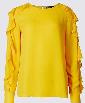Ruffle sleeve blouse, Marks & Spencer £25.00