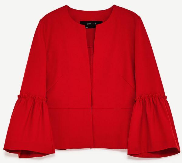 Ruffled jacket, Zara £29.99