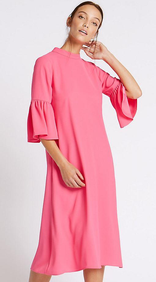 Tie sleeve dress, Marks & Spencer £45.00