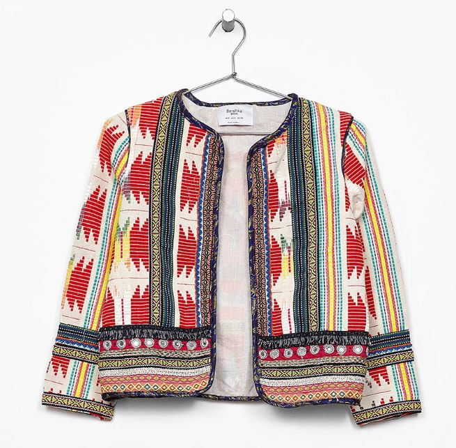 Tribal detail jacket. Bershka £49.99