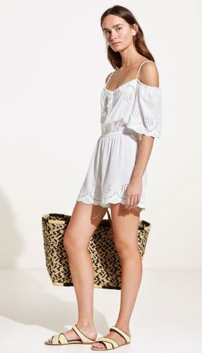 Embroidered playsuit, Oysho £39.99