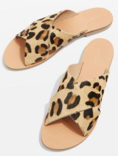 Holiday cross leopard sandals, Topshop £26.00