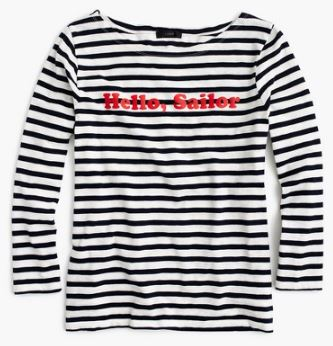 Hello Sailor stripe t-shirt, £38.00 (was £55.00), JCrew