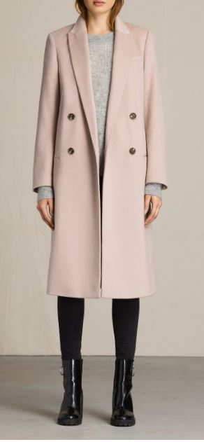 Light pink April coat, £252.00 (was £42.00), All Saints