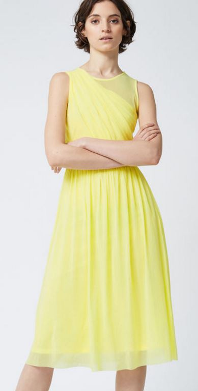 Mesh wrap yellow dress, £18.00 (was £55.00), Warehouse