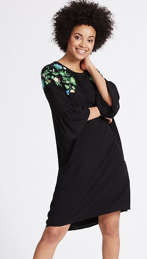 Floral embroidered dress - £23.00