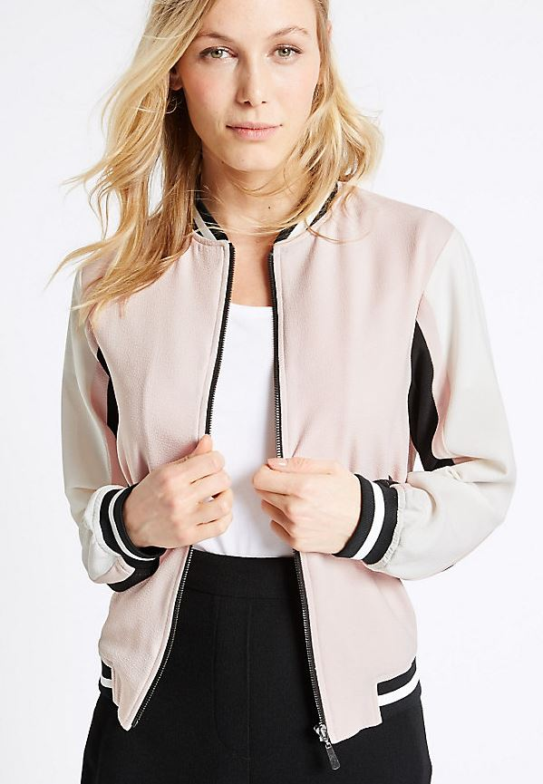 Colour block bomber jacket - £21.50