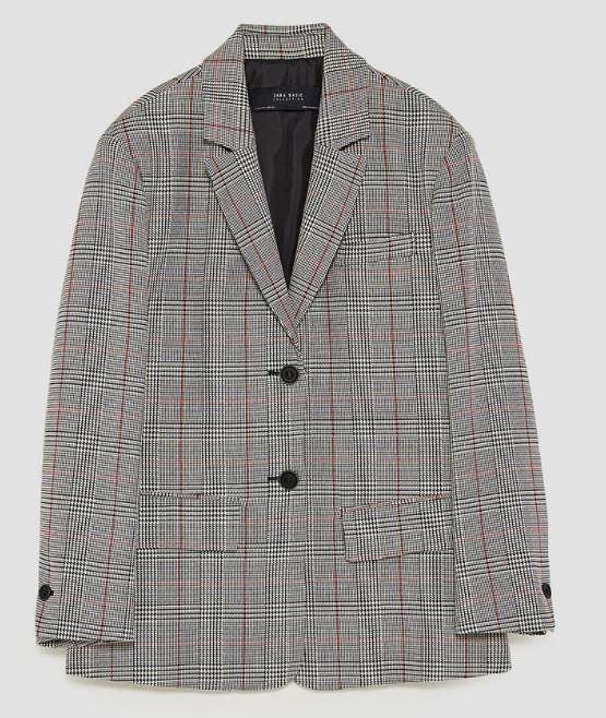 Check blazer - Zara £49.99