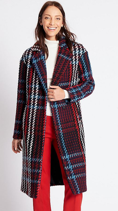 Check coat £99, Marks and Spencer