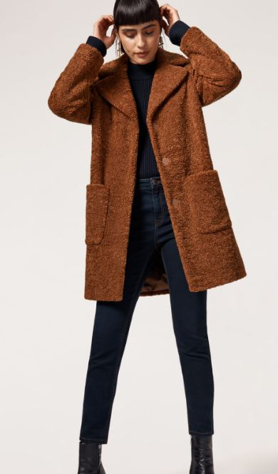 Teddy Faux fur coat, Warehouse £71.20