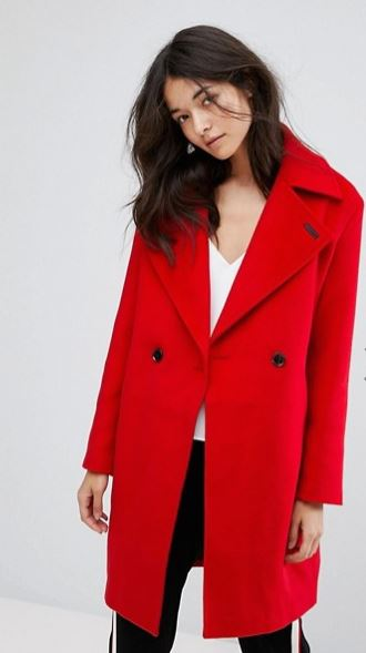 Neon Rose Cocoon coat, ASOS, £75.00