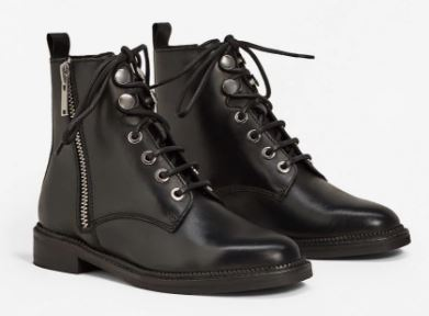 Zipper leather boots, Mango £79.99