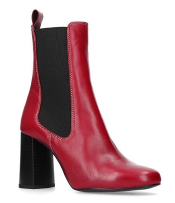Damsel Red mid heel boot, Kurt Geiger £159.00 (sale)